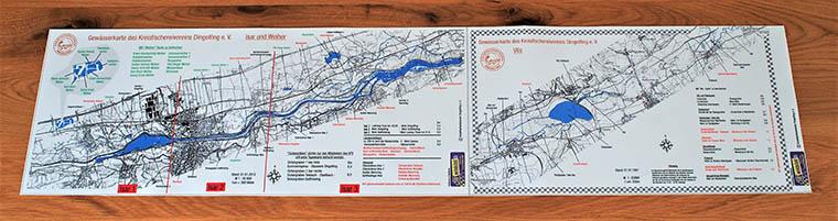 Gewässerkarte Isar, Weiher und Vils